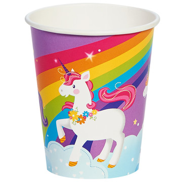 Fairytale Unicorn Party 9oz Paper Cups (8 Count)