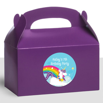 Fairytale Unicorn Personalized Treat Favor Boxes (12 Count)