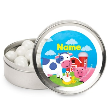 Farm Animals Personalized Candy Tins (12 Pack)
