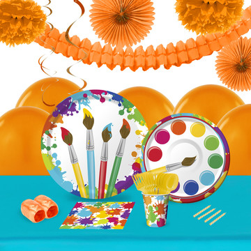 Art Party 16 Guest Tableware Deco Kit