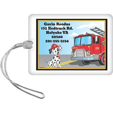 Fire Truck Personalized Luggage Tag (Each)