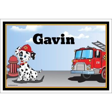 Fire Truck Personalized Placemat (Each)