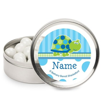First Birthday Turtle Personalized Candy Tins (12 Pack)
