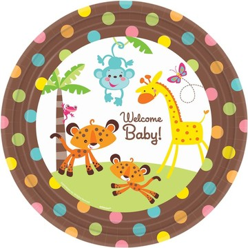 Fisher Price Baby Luncheon Plates (8 Pack)