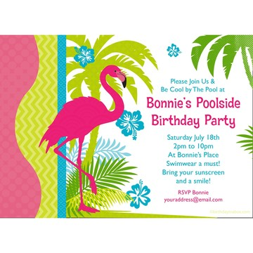 Flamingo Personalized Invitation (Each)