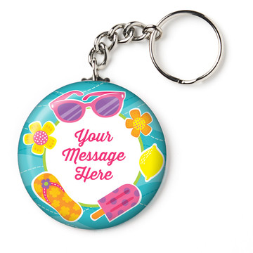 "Flip Flop Fun Personalized 2.25"" Key Chain (Each)"