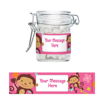 Flower Monkey Personalized Glass Apothecary Jars (12 Count)