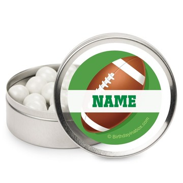 Football Party Personalized Candy Tins (12 Pack)