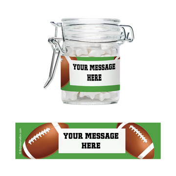 Football Party Personalized Glass Apothecary Jars (10 Count)