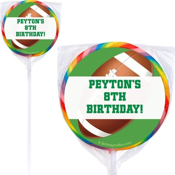 Football Party Personalized Lollipop