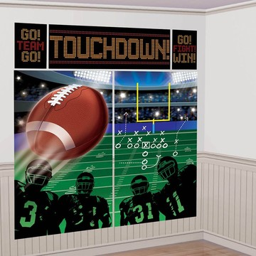 Football Scene Setter Wall Decorating Kit (Each)