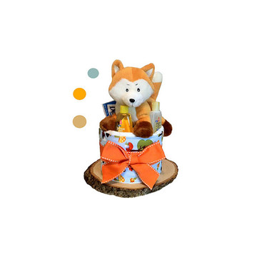 Forest Fox Diaper Cake (1 Tier)