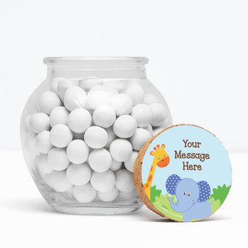 """Forest Friends Personalized 3"""" Glass Sphere Jars (Set of 12)"""