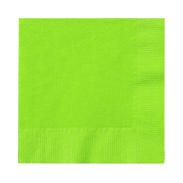 Fresh Lime (Lime Green) Beverage Napkins