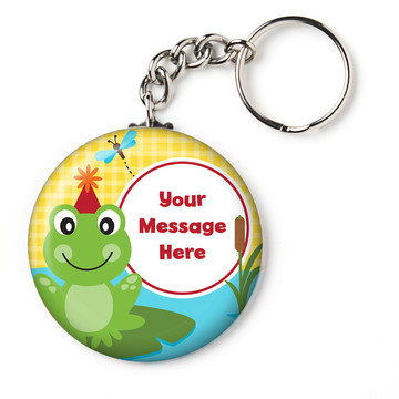 "Frog Pond Fun Personalized 2.25"" Key Chain (Each)"