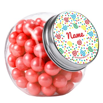 Frosted Cake Personalized Plain Glass Jars (10 Count)