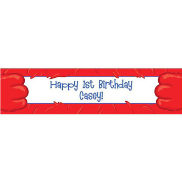 Fuzzy Friends 1st Birthday Personalized Banner (each)