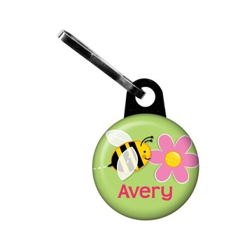 Garden Party Personalized Mini Zipper Pull (each)
