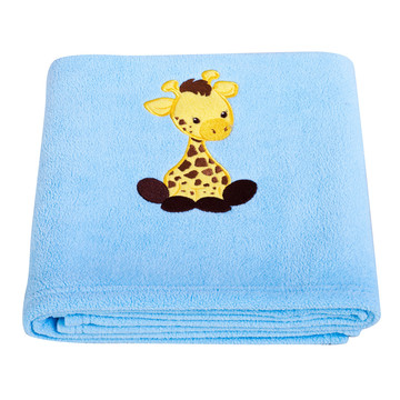 Giraffe Applique Fleece Blanket