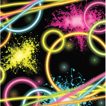 Glow Party Lunch Napkins (16 Count)