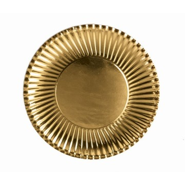 Gold Lunch Paper Plates, 10ct