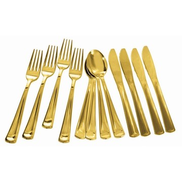 Gold Plated Cutlery Multipack, 12ct