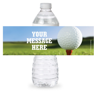 Golf Personalized Bottle Label (Sheet of 4)