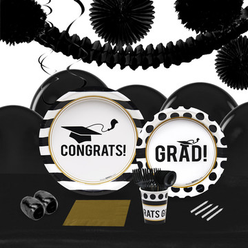 Graduation Party 16 Guest Tableware Decoration Kit