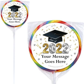 Graduation Year Personalized Lollipops (12 Pack)