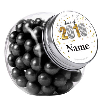 Graduation Year Personalized Plain Glass Jars (12 Count)