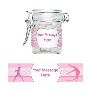 Gymnastics Personalized Glass Apothecary Jars (12 Count)