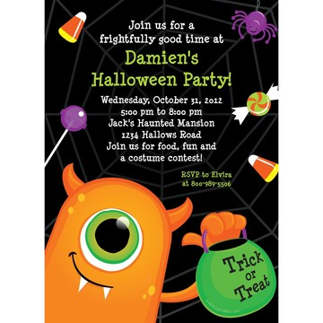Halloween Personalized Invitation (Each)