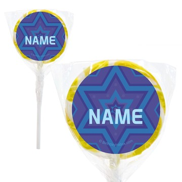 "Hanukkah Personalized 2"" Lollipops (20 Pack)"