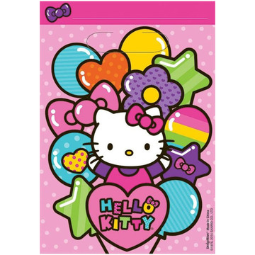 Hello Kitty Rainbow Loot Favor Bags (8 Pack)