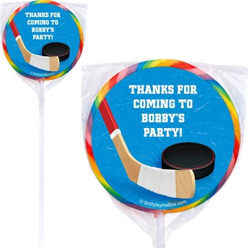 Hockey Party Personalized Lollipop