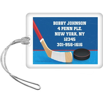 Hockey Party Personalized Luggage Tag (each)