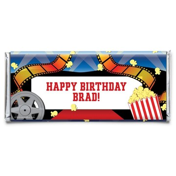 Hollywood Personalized Candy Bar Wrapper (Each)