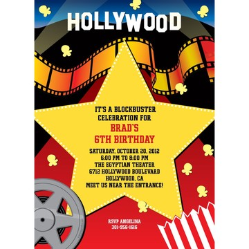 Hollywood Personalized Invitation (each)