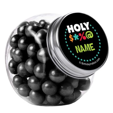 Holy Bleep Personalized Plain Glass Jars (10 Count)