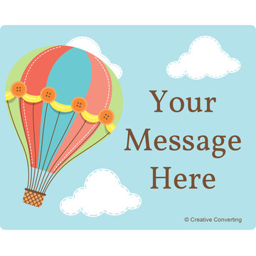 Hot Air Balloon Personalized Rectangular Stickers (Sheet of 15)