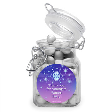 Ice Princess Personalized Glass Apothecary Jars (10 Count)
