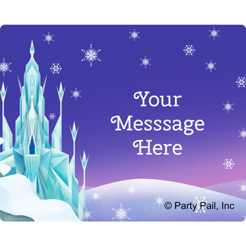 Ice Princess Personalized Rectangular Stickers (Sheet of 15)