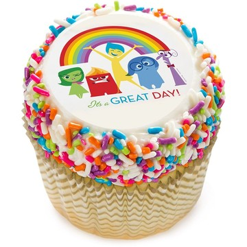 "Inside Out 2"" Edible Cupcake Topper (12 Images)"