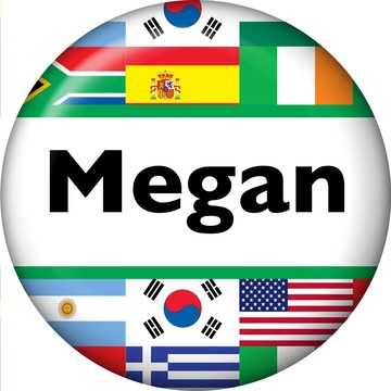 International Personalized Mini Button (Each)
