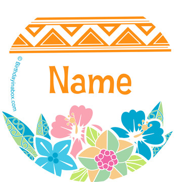 Island Princess Personalized Mini Stickers (Sheet of 20)