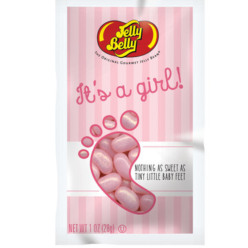 Jelly Belly It's a Girl Pink Jelly Beans 1 oz Bag (Each)