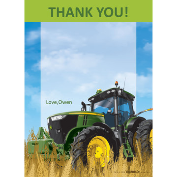 John Deere Tractor Personalized Thank You (Each)