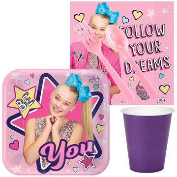 JoJo Siwa Standard Tableware Kit (Serves 8)