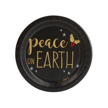 Joy to the World Peace on Earth Dessert Plate (8)