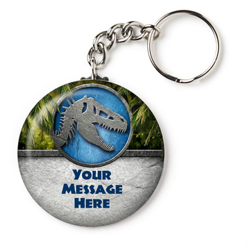 "Jurassic Personalized 2.25"" Key Chain (Each)"